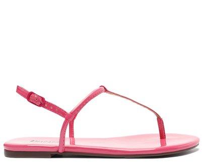 Rasteira Rosa Flamingo Verniz Slim