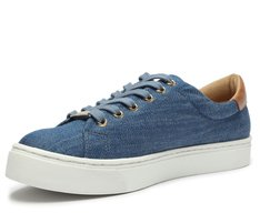Tênis Sola Alta Jeans Azul