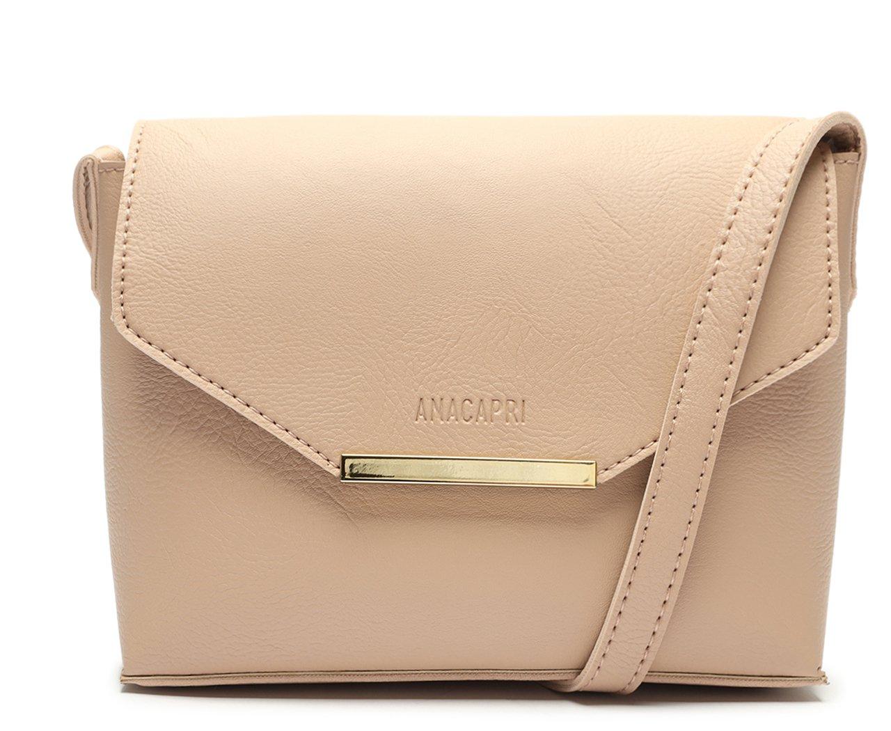 Crossbody Rosa Blush Envelope Detalhe Metal | Anacapri