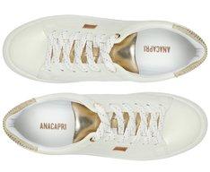 Tênis Branco Detalhe Ouro Dani