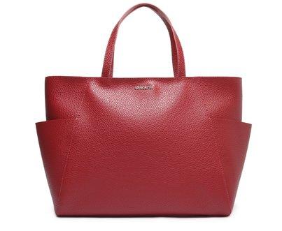 Shopping Vermelha Bolsos Laterais Grande