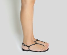 Sandália Preta Slim