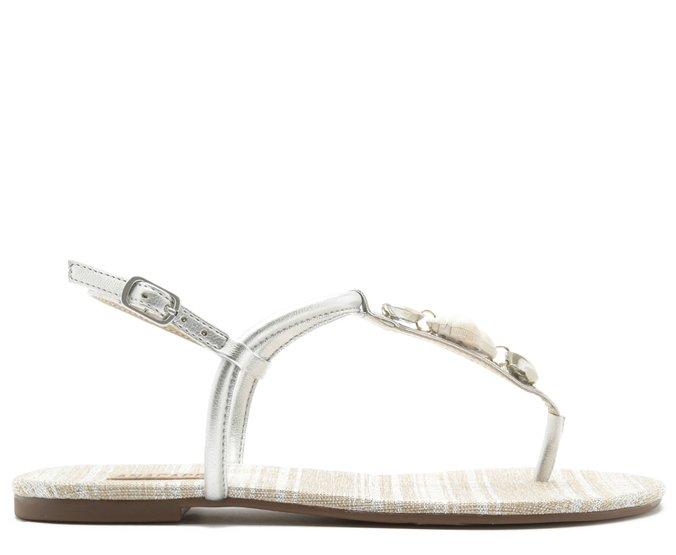 Sandália Prata Conchas