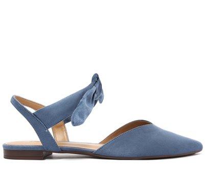 Sapatilha Azul Safira Slingback Laço