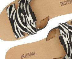Rasteira Tiras Entrelaçadas Zebra