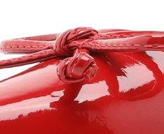 Sapatilha Vermelha Verniz Bico Fino