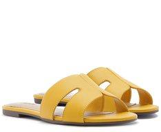 Rasteira Recortes Amarela