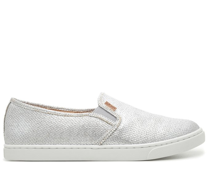 Slip On Prateado Juta Metalizada