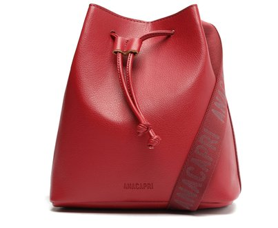 Bolsa Bucket Vermelha Alça Faixa