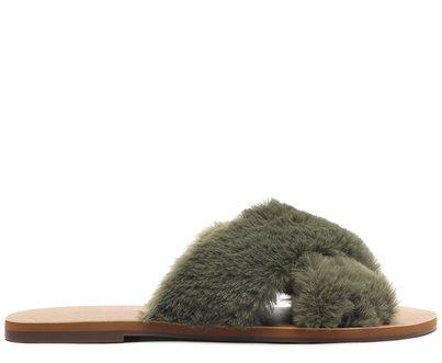 Rasteira Verde Tiras Comfy