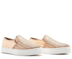 Tênis Slip On Ana Sola Alta Bronze