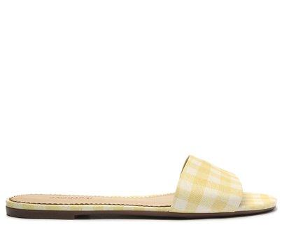 Rasteira Amarela Vichy Tira Flat