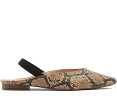 Sapatilha Slingback Cobra Natural