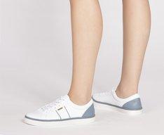 Tênis Tina Branco e Jeans