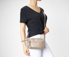 Crossbody Cinza Minimalista Mini