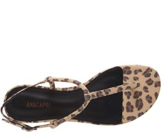 Sandália Slim Lona Animal Print