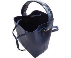 Bucket Marabella Alça Trança Navy