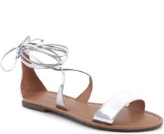 Rasteira Silver Lace-up
