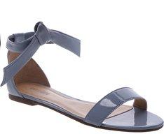 Sandália Nó Minimal Verniz Azul