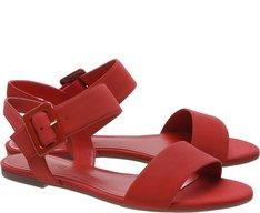 Sandália Fivela Vermelha