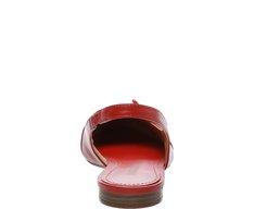 Sapatilha Slingback Fivela Vermelha