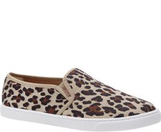 Tênis Slip On Lona Animal Print