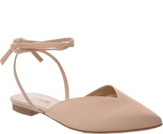 Sapatilha Lace Up Nude