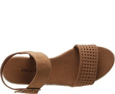 Sandália Flatform Vazado Whisky
