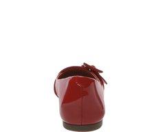 Sapatilha Bico Redondo Fivela Vermelha