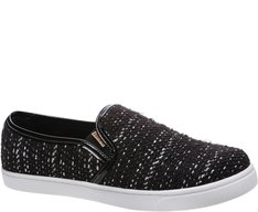 Tênis Slip On Tweed Preto