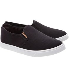 Tênis Slip On Mini Lona Preto