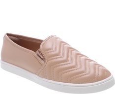 Tênis Slip On Chevron Nude