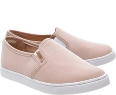 Tênis Slip On Mini Lona Blush
