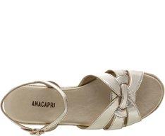 Sandália Flatform Palha Dourada