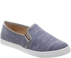 Tênis Slip On Lurex Azul