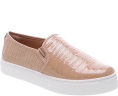 Tênis Slip On Croco Nude