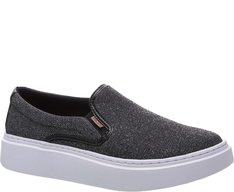 Tênis Duda Slip On Lurex Preto