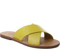 Rasteira Tiras Cruzadas Amarela
