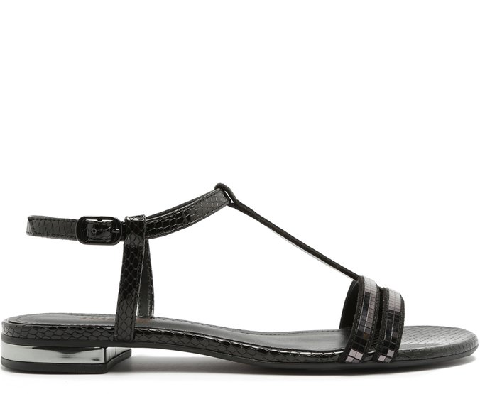 Sandália Cobra Brilhos Preta