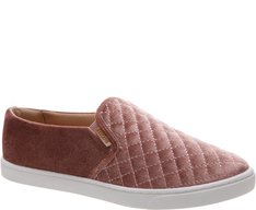 Tênis Slip On Matelassê Veludo Blush