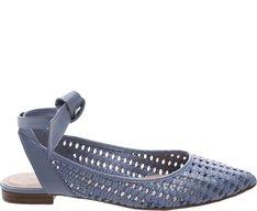 Sapatilha Slingback Trama Jeans