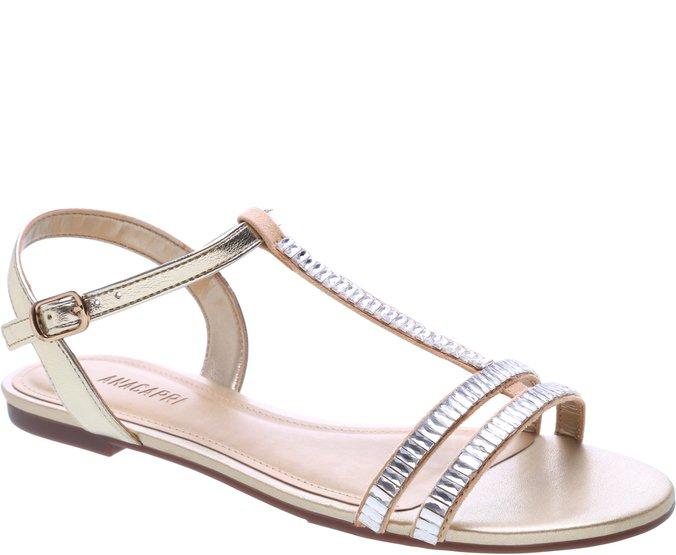 Sandália Brilho Dourada