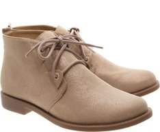Bota Cano Curto London Suede Nude