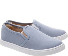 Tênis Slip On Mini Lona Jeans