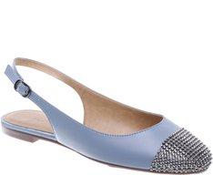 Sapatilha Slingback Glam Azul