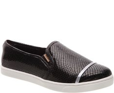Tênis Slip On Tira Metal Snake Preto