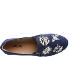Tênis Slip On Patches Azul Jeans