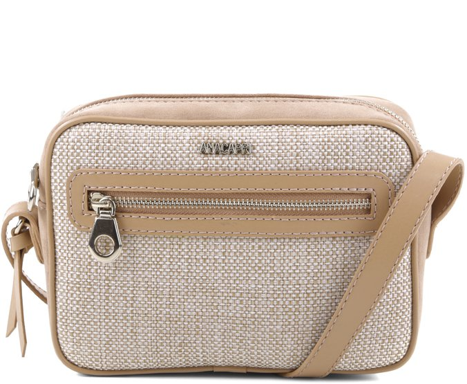 Crossbody Paris Ráfia Bege